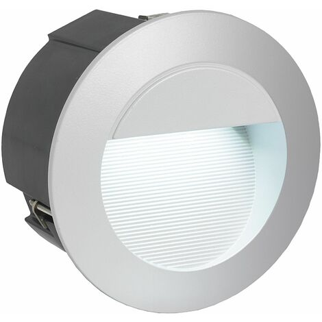 EGLO Zimba-LED Silver Outdoor LED Recessed Light 2.5W Cool White IP65 - 95233