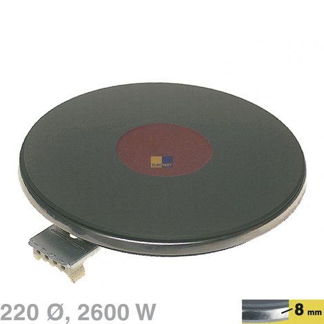 EGO Blitz Kochplatte, Herdplatte Ø 220mm, 2600W, 230V - Nr. 12.22463.018, 18.122463.018