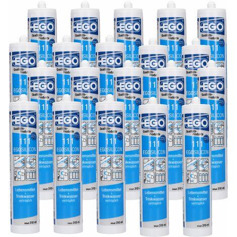 EGOSILICON 111 Lebensmittel & Trinkwasser Silikon, transparent 310ml ein Karton á 20 Stück