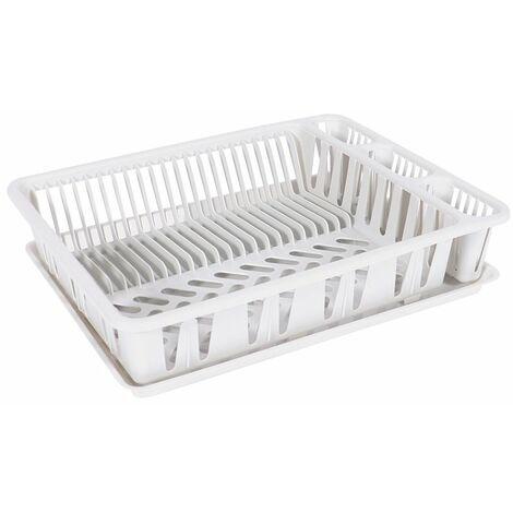 Egouttoir à vaisselle 50 x 37,5 x 10,5 blanc