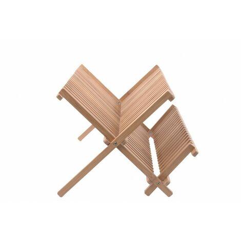 Egouttoir à vaisselle en bambou - Pliable - Résistant à l'humidité