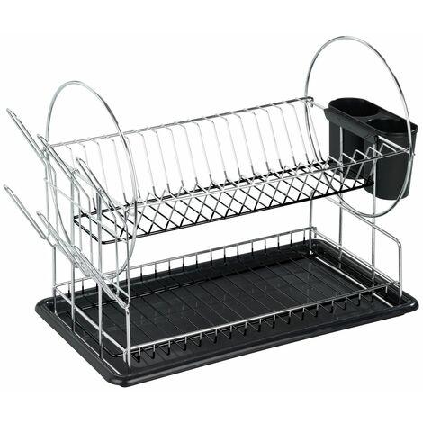 Egouttoir à vaisselle Premium Duo - Argent