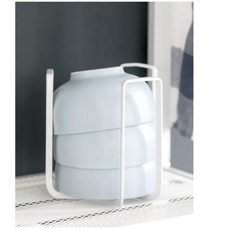 Égouttoir à vaisselle simple en fer forgé, bol de cuisine à égouttoir à vaisselle, étagère de rangement, égouttoir à vaisselle domestique, égouttoir à vaisselle (blanc)