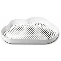 Egouttoir en forme de nuage - 22 x 30 x 5 cm - Plastique - Blanc