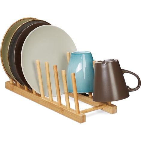 Égouttoir, pour 8 assiettes, planches à découpées, support à couvercles, vaisselle, range-planche en bambou,