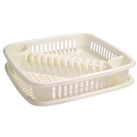 Egouttoir vaisselle 12 assiettes Eda - Blanc cérusé