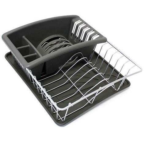 Egouttoir vaisselle Aquanet plus - 35 x 30 x 12 cm - gris