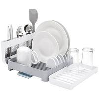 Egouttoir vaisselle repliable bec verseur