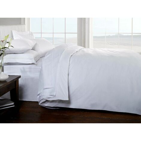 """main image of """"Egyptian Cotton King Fitted Bed Sheet - White"""""""