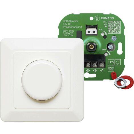 Ehmann 3760c0800 Dimmer da incasso Adatto per lampadina: Lampadina LED, Lampadina ad incandescenza, Lampadina alogena B