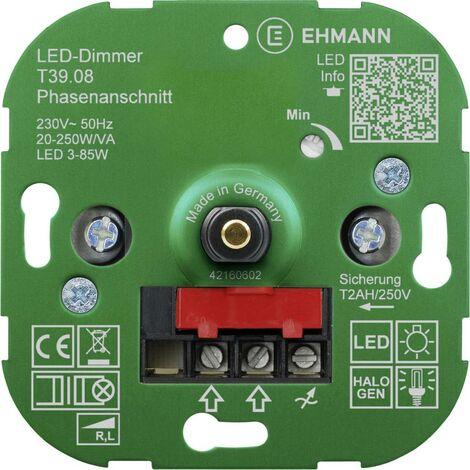 Ehmann 3900x0800 Unterputz Dimmer Geeignet für Leuchtmittel: LED-Lampe, Energiesparlampe, Halogenla Y630321