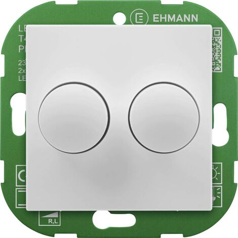 Ehmann 4295x0700 Dimmer rotativo Adatto per lampadina: Lampadina LED, Lampadina ad incandescenza, Lampadina alogena