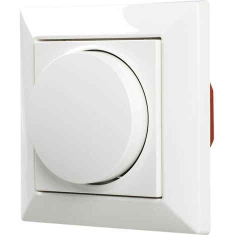 Ehmann 5591x0000 Dimmer rotativo Adatto per lampadina: Lampadina LED, Lampadina alogena, Lampadina ad incandescenza,