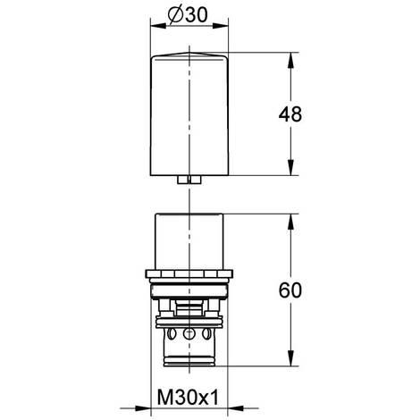 EICHELBERG Unterputz-Umstellung 440018 für UP-Einhand-Wannenbatterie chrom