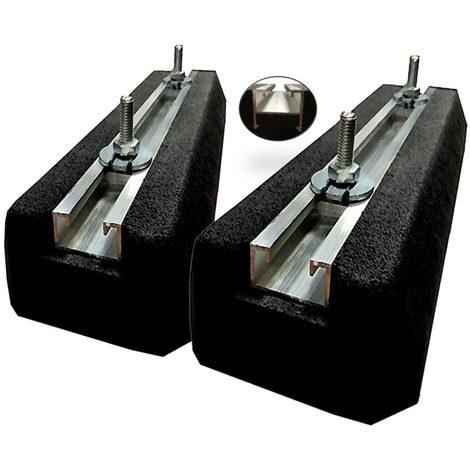 eid as400pmbfp | paire de support de sol mini rubber eid 400mm 300kg