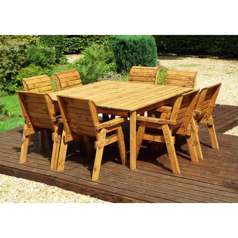 Eight Seater Deluxe Square Table Set HB82