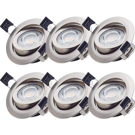Einbaustrahler / LED Spot Paris 5 W - Nickel gebürstet Ra>90