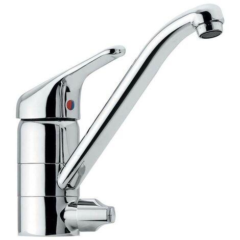Einhebelmischer Küchenarmatur Spültischarmatur Küchen Wasserhahn fürs Spülbecken mit Geräteanschlussventil für Spülmaschine, Waschmaschine - Made in Italy