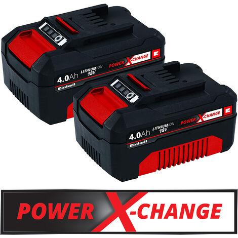 Einhell 18V Akku-Twinpack 4,0 Ah Power-X-Change plus LI-ION Akku Batterie