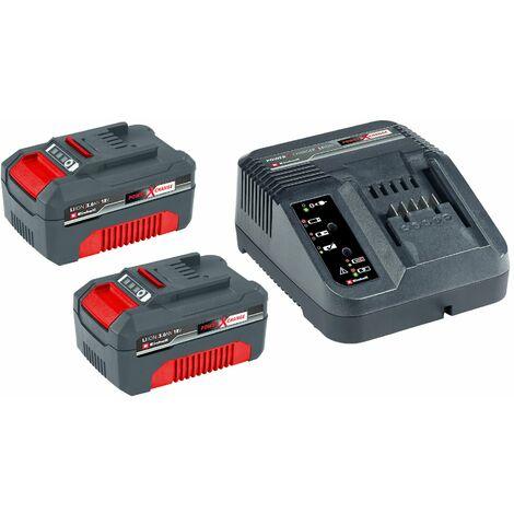 Einhell 45.120.98 18V Power-X-Change Litio-Ion Juego de baterías (2x 3.0Ah) + cargador