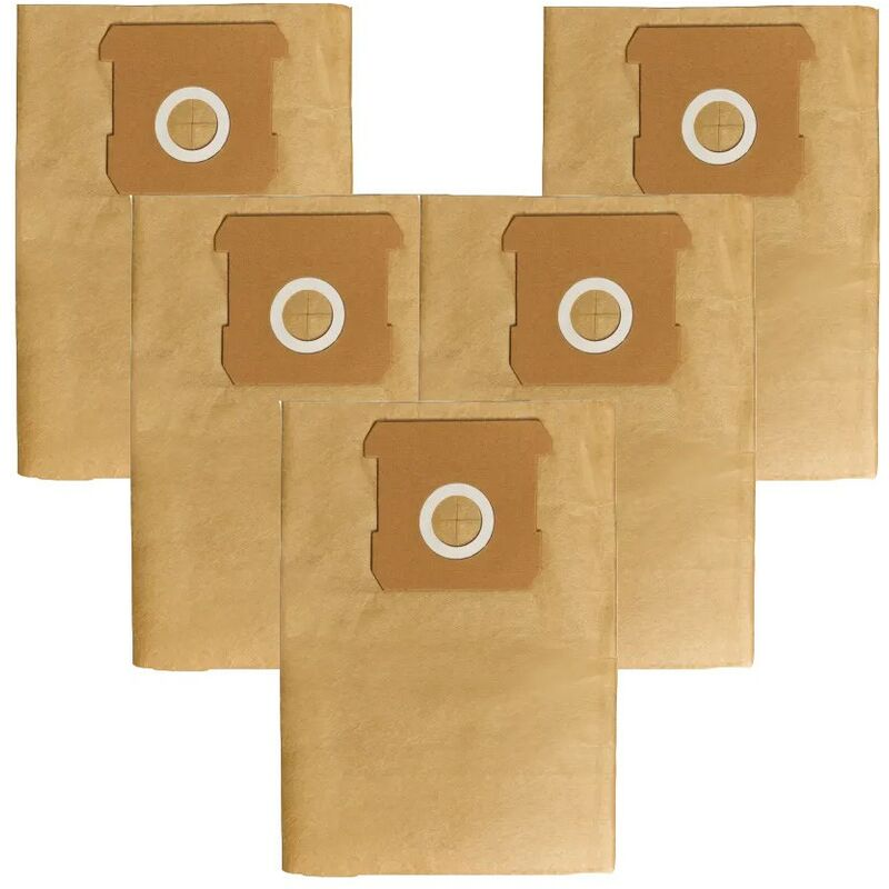 Image of 12L Vac Filter Replace Dust Bags X5 EIN2351159 For TCVC1812S TC-VC 1812S - Einhell
