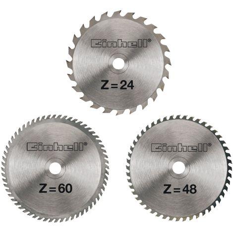 Einhell Coffret de 3 lames de scie HM 210 x 30 x 2,5 mm