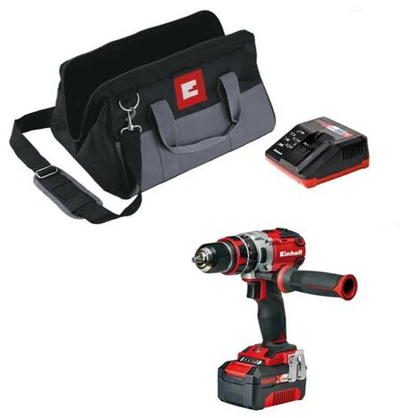 Einhell Cordless Brushless Combi Drill Power X Change 18v TE-CD 18Li-I BL X1 4AH