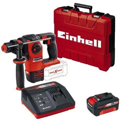Einhell Cordless Brushless SDS Drill 4ah Battery Set Power X Change 18v Herocco