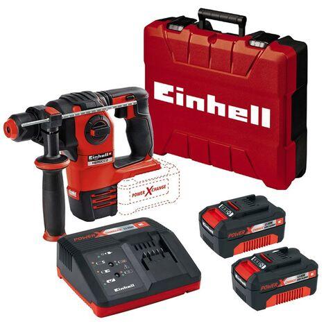 Einhell Cordless Brushless SDS Drill Power X Change 18v Herocco x2 Battery Kit