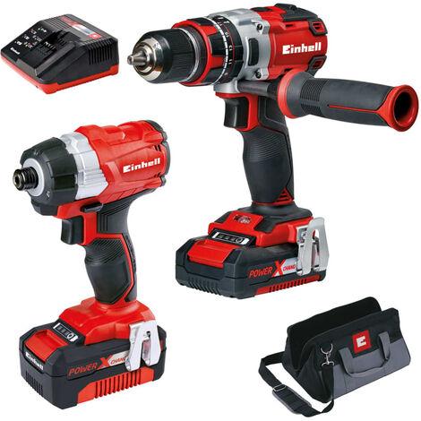 Einhell Kit de herramientas eléctricas 18V Twin Pack BL