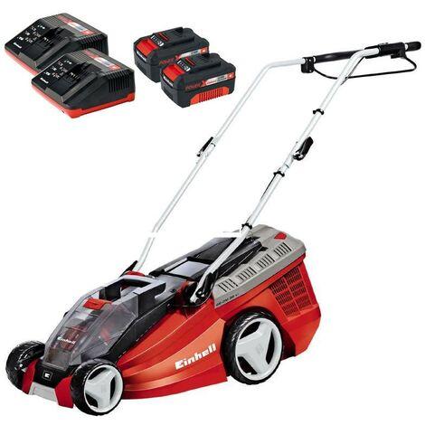 Einhell Power X Change GE CM36LI 36v Li Ion Cordless Lawn Mower 2x 18v Batteries
