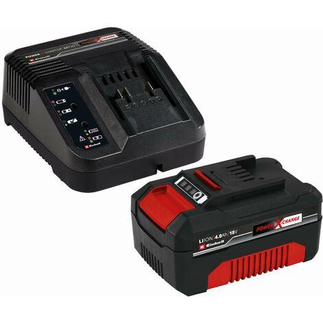 Einhell Power-X-Change Starter Kit Akku (1x4,0 Ah), Ladegerät - 4512042