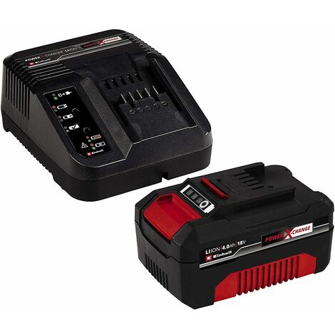 Einhell Power-X-Change Starter Kit Batterie 18 V/4,0 Ah et Chargeur - 4512042