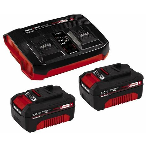 Einhell PXC-Starter-Kit 2x 3,0Ah & Twincharger Kit - 4512083