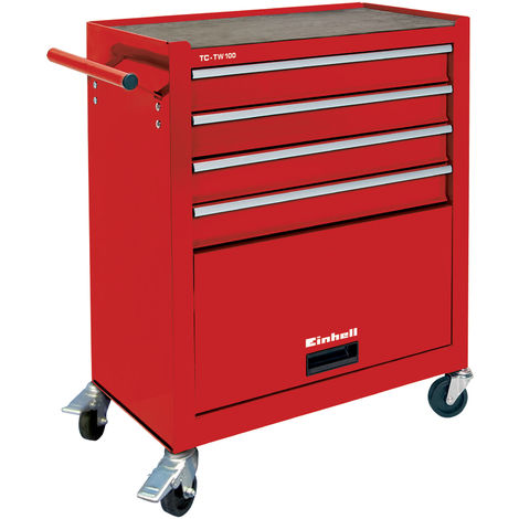 Werkstattwagen Werkzeugschubladen Werkzeugkasten mit 1125 Werkzeugen Stahl Rot