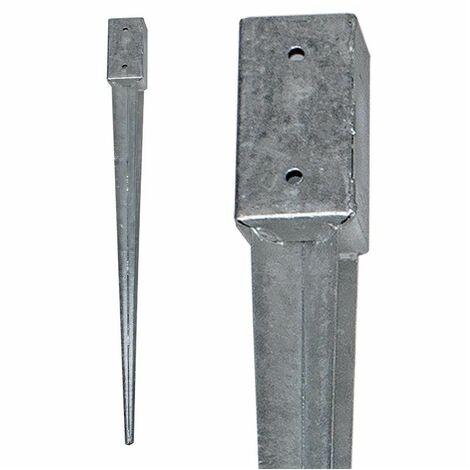 Einschlagbodenhülse Bodenhülse Pfostenanker Pfostenträger Einschlaghülse 121x121