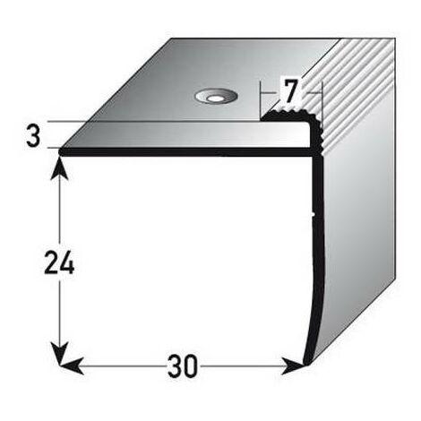"""Einschubprofil """"Annidale"""", mit Nase für Böden bis 3 mm Einfasshöhe, Aluminium eloxiert, gebohrt"""
