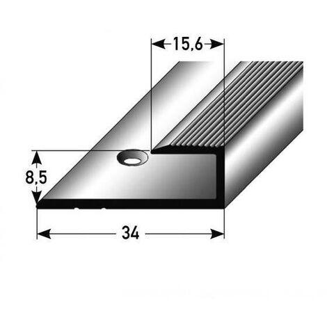 """Einschubprofil """"Barrie"""" für Laminat, 8,5 mm Einfasshöhe, Aluminium eloxiert, gebohrt"""