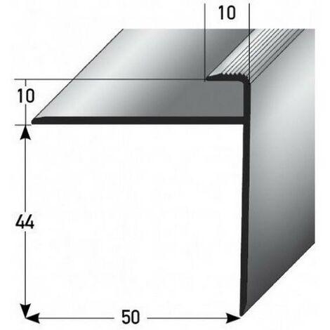 """Einschubprofil """"Castlebar"""" mit Nase für Parkett / Laminat, Einfasshöhe 10 mm, Aluminium eloxiert, gebohrt"""