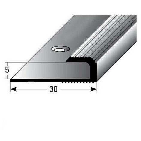 """Einschubprofil """"Cavan"""" für Laminat, 5 mm Einfasshöhe, Aluminium eloxiert, gebohrt"""