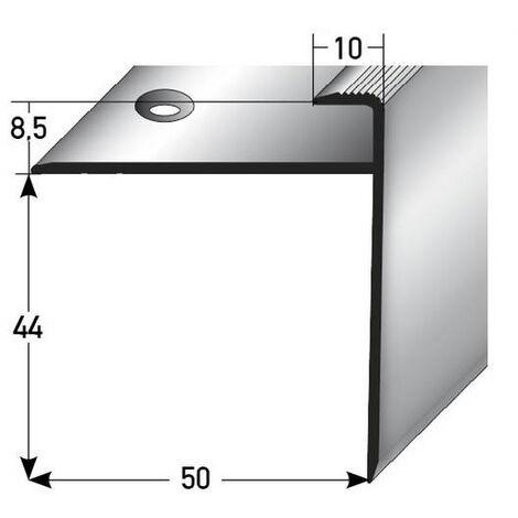 """Einschubprofil """"Chandler"""", mit langer Nase für Laminat, 8,5 mm Einfasshöhe, Aluminium eloxiert, gebohrt"""