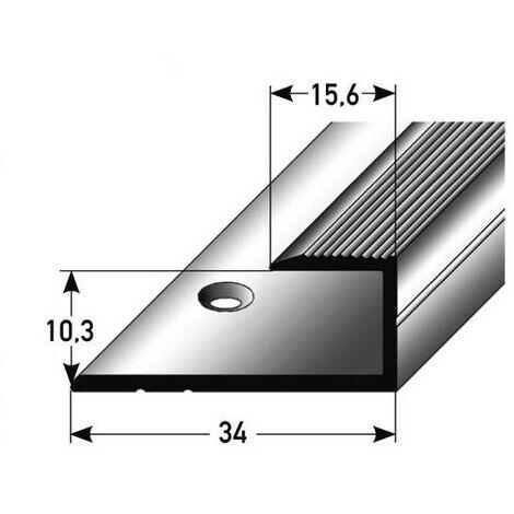 """Einschubprofil """"Cobourg"""" für Laminat / Parkett, 10,3 mm Einfasshöhe, Aluminium eloxiert, gebohrt"""