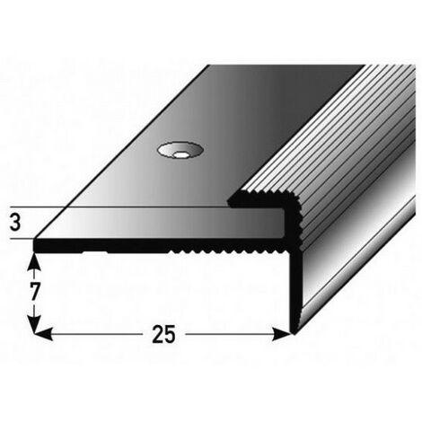 """Einschubprofil """"Eyeries"""" mit Nase für Designbeläge, Einfasshöhe 3 mm, Aluminium eloxiert, gebohrt-silber-900"""