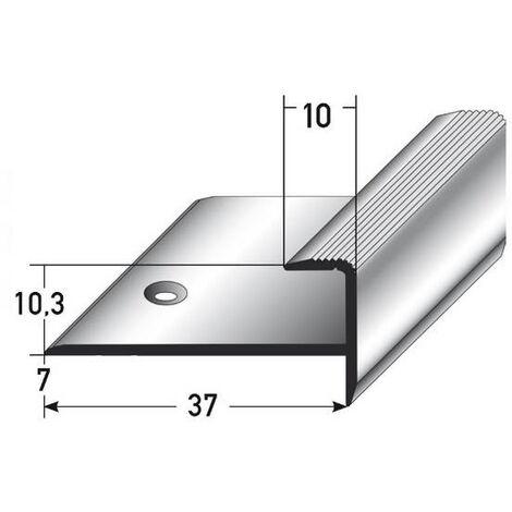 """Einschubprofil """"Matane"""", mit Nase für Laminat / Parkett, 10,3 mm Einfasshöhe, Aluminium eloxiert, gebohrt"""