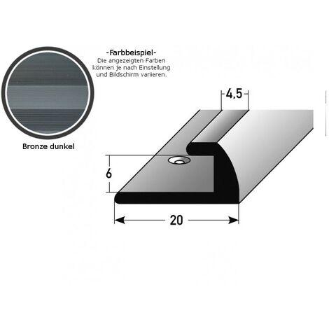 """Einschubprofil """"Midleton"""" für Laminat, 6 mm Einfasshöhe, Aluminium eloxiert, gebohrt"""