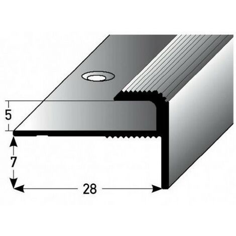 """Einschubprofil """"Stannington"""" mit Nase für Designbeläge, Einfasshöhe 5 mm, Aluminium eloxiert, gebohrt"""