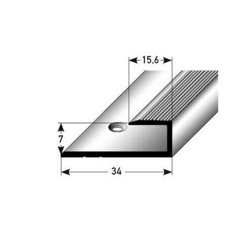 """Einschubprofil """"Waterford"""" für Laminat, 7 mm Einfasshöhe, Aluminium eloxiert, gebohrt"""