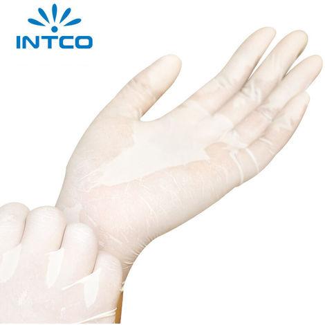 Einweg-Latex-Handschuhe, in Puder, Naturwei?, Gr??e S, 100 St¨¹ck / Karton