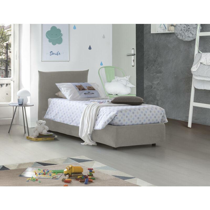 Talamo Italia - Einzelbett Rosa mit herausnehmbarem Bettkasten Hergestellt in Italien Creme