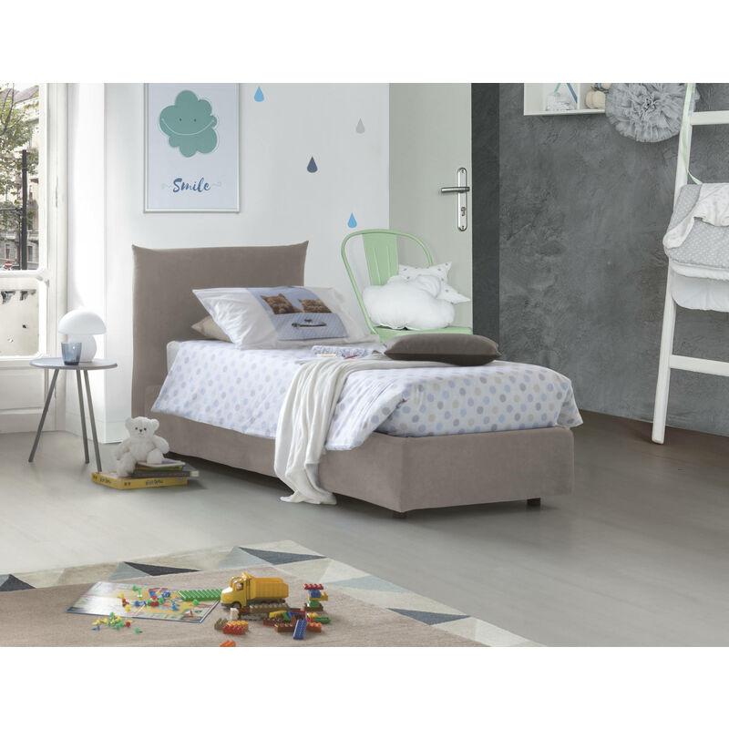 Einzelbett mit herausnehmbarem Bettkasten Rosa Bettkasten Hergestellt in Italien Taubenblau - TALAMO ITALIA